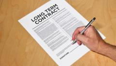 4K Long Term Contract - stock footage