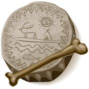 Shaman drum - stock illustration