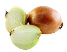 Onion on white background Stock Photos