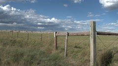 Nighthawk Bird on Fence and Great Plains Scenery Stock Footage