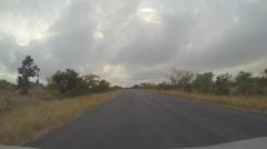 Pov hyperlapse drive tour - sunrise Kruger national park Stock Footage