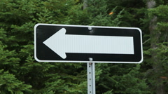 One way sign. Pointing left. Stock Footage