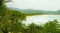 Kamala beach on a cloudy day. thailand, phuket island Stock Footage