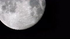 big moon in the sky. the view through the clouds - stock footage