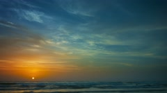 Beautiful picturesque sunset over tropical sea. taymlaps Stock Footage