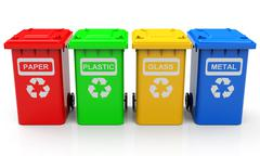 Stock Illustration of the garbage cans