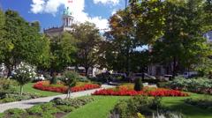 St. James Gardens - Toronto Canada - HD 4K+ Stock Footage