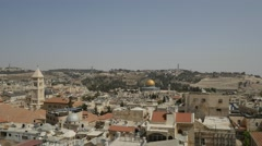 Jerusalem - Old City Skyline - 30P - UHD 4K Stock Footage