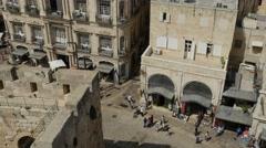 Jerusalem - Old City - Street / Pedestrians - 30P - UHD 4K Stock Footage