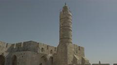 Jerusalem - Old City - Tower of David - 30P - UHD 4K - Flat Stock Footage