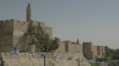 Jerusalem - Old City Walls / Tower of David - 30P - UHD 4K - Flat Stock Footage