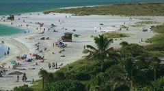 Arieal View Of Lido Beach Sarasota Florida 02 4K Stock Footage