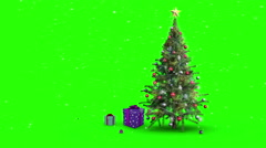 Christmas presents appearing around tree - stock footage