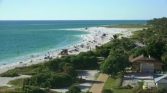Arieal View Of Lido Beach Sarasota Florida 01 4K Stock Footage