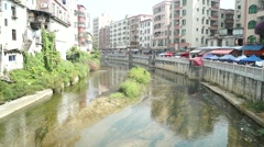 Shenzhen Xixiang River, in China Stock Footage