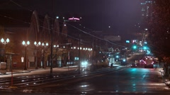 Tacoma night city timelaps Stock Footage