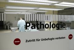 Hospital sign, No unauthorized entry Stock Photos