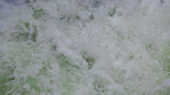 Sea foam in green waves Stock Footage