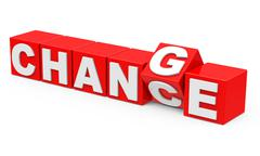 Change and chance Stock Illustration