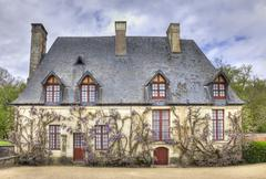 chancellery from the garden of chenonceau castle - stock photo