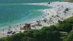 Arieal View Of Lido Beach Sarasota Florida 03 4K Stock Footage