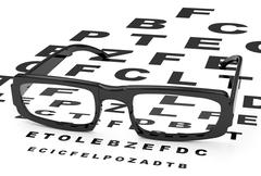 the eyeglasses - stock illustration