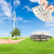 Carbon credits concept Stock Photos