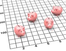 The piggybank statistic Stock Illustration