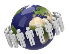 the population - stock illustration
