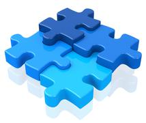 The puzzle Stock Illustration