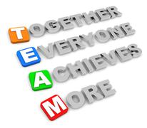 Together everyone achieves more Stock Illustration