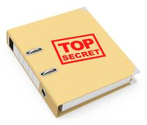 top secret - stock illustration