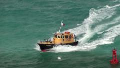 Yellow Pilot Boat Stock Footage