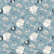 Summer pattern in blue tones Stock Illustration
