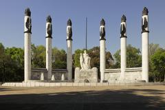 Monumento a Los Ninos Heroes, Chapultepec Park, Mexico City Stock Photos