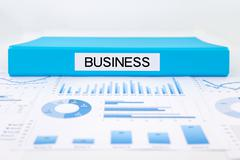 business concept, graphs, charts and strategic plan - stock photo