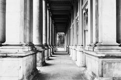 View of colonnade Stock Photos