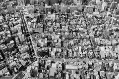 Aerial view of residential district Stock Photos