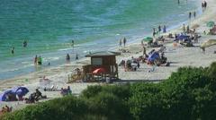 Arieal View Of Lido Beach Sarasota Florida 04 4K Stock Footage
