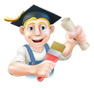 graduate painter decorator - stock illustration