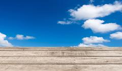 Sky background with wooden planks Stock Illustration