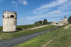chateau cos d'estournel saint-estephe - stock photo