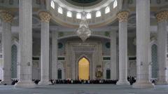 T/L Kazakhstan, Astana, Interior of Hazrat Sultan Mosque Stock Footage