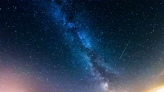 starry sky, the Milky Way, 4k time-lapse - stock footage