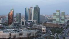 Kazakhstan, Astana, the city center - stock footage