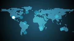 Stock Video Footage of Global connections theme in blue