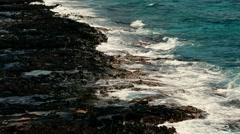 Sea Waves On The Rocky Beach beautiful sea surf Stock Footage