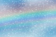 abstract star sky clouds rainbow snowflakes - stock illustration