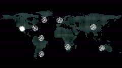 Stock Video Footage of Global connections theme in green and black