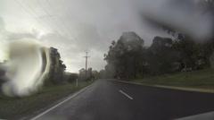 Mclaren Vale pov hyperlapse - drive in the rain Stock Footage